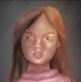 Self Portrait, Imogen Ficken, iPad drawing