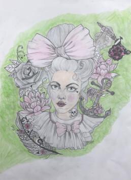 Steampunk Marie Antoinette, Charlie-Maud Munro, Pencil