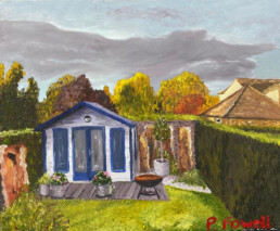 The House that Tim Built, Pascale Fowell, Oil painting