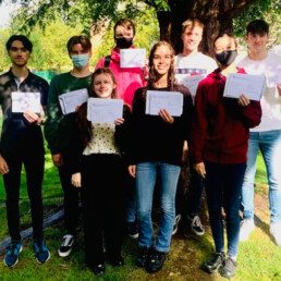 A-Level Students collected their well-deserved results this morning